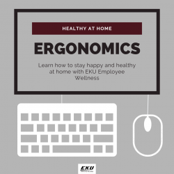 Healthy at home: ergonomics (keyboard and mouse)